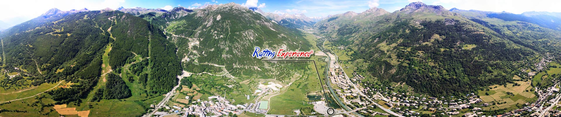 serre chevalier from the sky